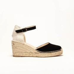 Sandalia de Ante Negro