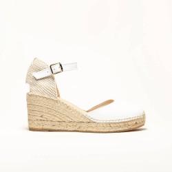 Sandalia de Napa Blanca