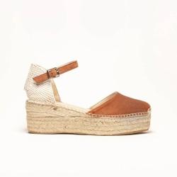 Sandalia de Ante Marrón